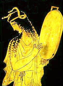Greek Goddess with Tambourine
