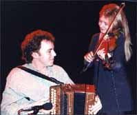 Altan's Mairead Ni Mhaonaigh & Dermot Byrne; Photo by The Mollis